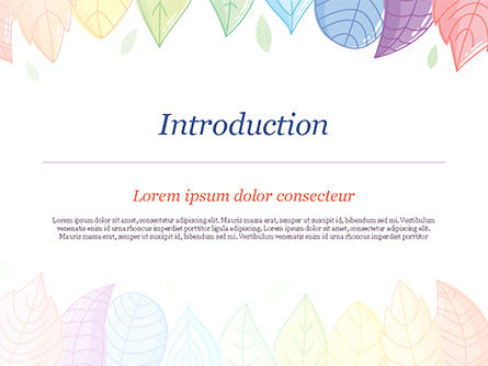 Cute Colored Leaves PowerPoint Template, Slide 3, 15307, Nature & Environment — PoweredTemplate.com