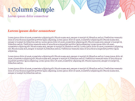 Cute Colored Leaves PowerPoint Template, Slide 4, 15307, Nature & Environment — PoweredTemplate.com