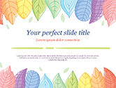 Nature & Environment: Cute Colored Leaves PowerPoint Template #15307