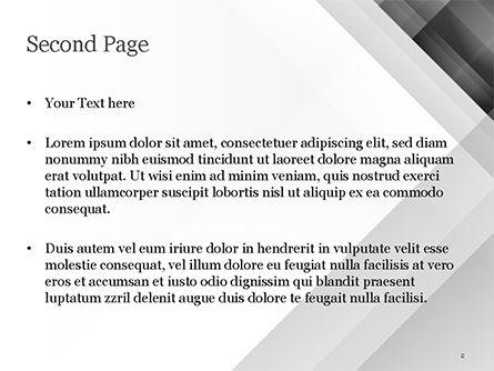 Gray Diagonal Stripes PowerPoint Template, Slide 2, 15308, Abstract/Textures — PoweredTemplate.com