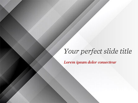 Abstract/Textures: Gray Diagonal Stripes PowerPoint Template #15308