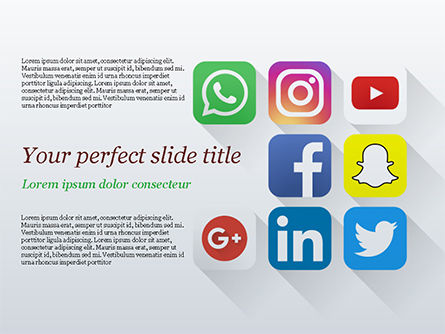 Careers/Industry: Social Media Icons PowerPoint Template #15310