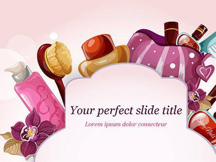 Women's Cosmetics PowerPoint Template, 15312, Careers/Industry — PoweredTemplate.com