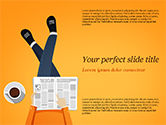 People: Koffiepauze PowerPoint Template #15313