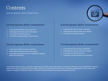 Word Startup Under Magnifier PowerPoint Template, Slide 2, 15314, Business Concepts — PoweredTemplate.com