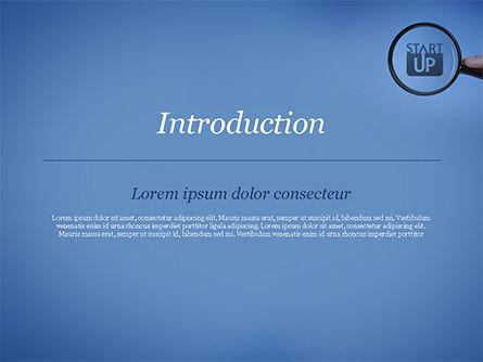 Word Startup Under Magnifier PowerPoint Template, Slide 3, 15314, Business Concepts — PoweredTemplate.com