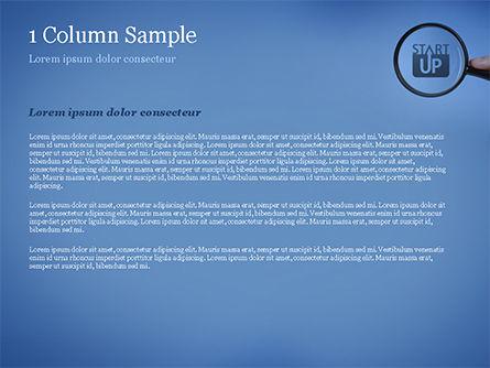 Word Startup Under Magnifier PowerPoint Template, Slide 4, 15314, Business Concepts — PoweredTemplate.com