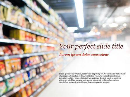 Careers/Industry: Supermarket PowerPoint Template #15315