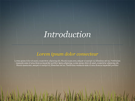 Bright Yellow Umbrella PowerPoint Template, Slide 3, 15316, Careers/Industry — PoweredTemplate.com