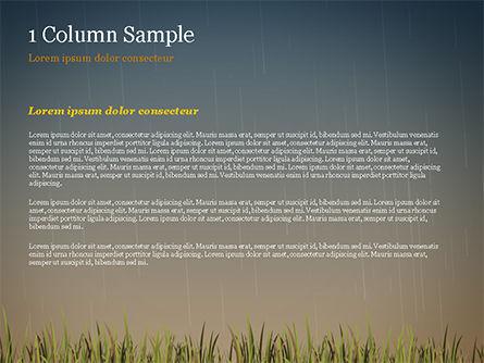 Bright Yellow Umbrella PowerPoint Template, Slide 4, 15316, Careers/Industry — PoweredTemplate.com