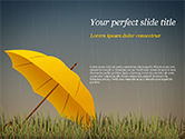 Careers/Industry: Bright Yellow Umbrella PowerPoint Template #15316