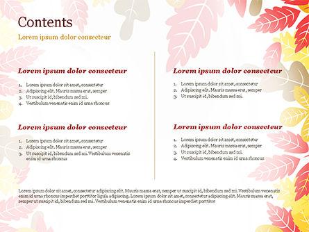Autumn Oak Leaves PowerPoint Template, Slide 2, 15320, Nature & Environment — PoweredTemplate.com