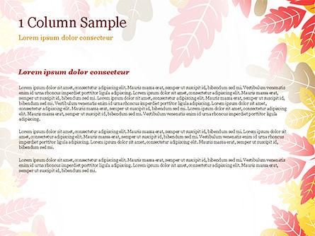 Autumn Oak Leaves PowerPoint Template, Slide 4, 15320, Nature & Environment — PoweredTemplate.com