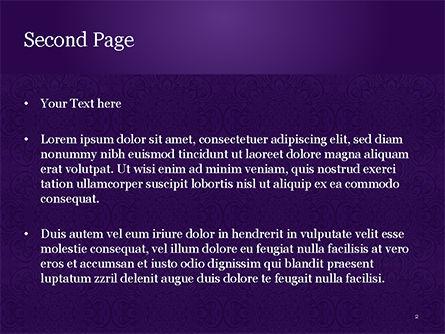 Purple Indian Pattern Presentation Template, Slide 2, 15321, Abstract/Textures — PoweredTemplate.com