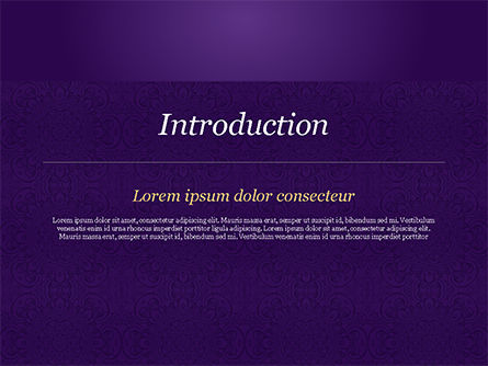 Purple Indian Pattern Presentation Template, Slide 3, 15321, Abstract/Textures — PoweredTemplate.com