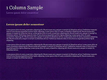 Purple Indian Pattern Presentation Template, Slide 4, 15321, Abstract/Textures — PoweredTemplate.com