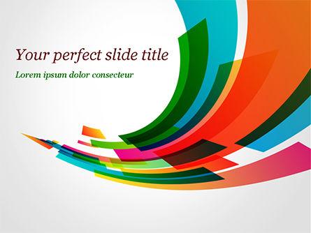 Abstract/Textures: Plantilla de PowerPoint - corriente colorida de rectángulos #15322