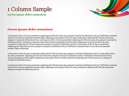 Colorful Stream of Rectangles PowerPoint Template, Slide 4, 15322, Abstract/Textures — PoweredTemplate.com