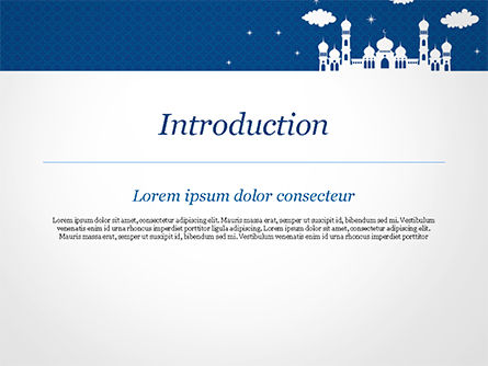 White Silhouette of Mosque PowerPoint Template, Slide 3, 15323, Construction — PoweredTemplate.com