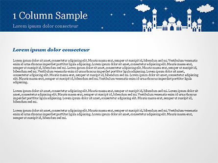 White Silhouette of Mosque PowerPoint Template, Slide 4, 15323, Construction — PoweredTemplate.com