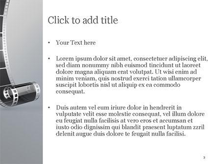 Black Film Strip PowerPoint Template, Slide 3, 15324, Art & Entertainment — PoweredTemplate.com