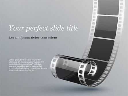 Black Film Strip PowerPoint Template, 15324, Art & Entertainment — PoweredTemplate.com