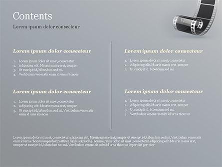 Black Film Strip PowerPoint Template, Slide 2, 15324, Art & Entertainment — PoweredTemplate.com