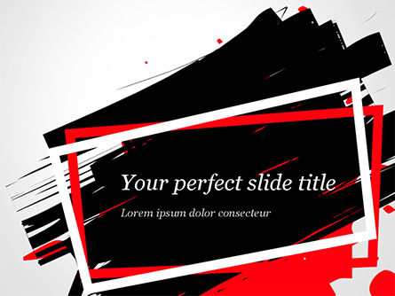 Abstract/Textures: Black Friday Theme Abstract PowerPoint Template #15326