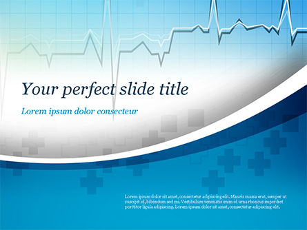 Pulse Rate Diagram PowerPoint Template, 15327, Medical — PoweredTemplate.com