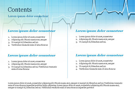Pulse Rate Diagram PowerPoint Template, Slide 2, 15327, Medical — PoweredTemplate.com