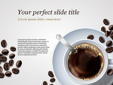 Food & Beverage: White Cup of Coffee PowerPoint Template #15328