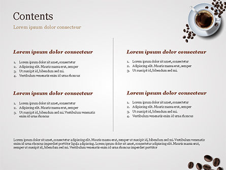 White Cup of Coffee PowerPoint Template, Slide 2, 15328, Food & Beverage — PoweredTemplate.com
