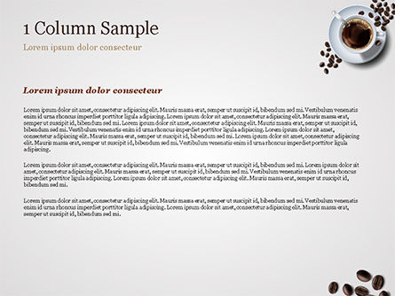 White Cup of Coffee PowerPoint Template, Slide 4, 15328, Food & Beverage — PoweredTemplate.com