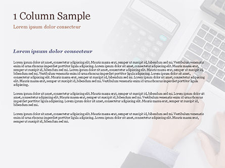 Man Working with Laptop and Calculator PowerPoint Template, Slide 4, 15330, Financial/Accounting — PoweredTemplate.com