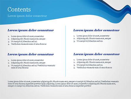Blue Wavy Line PowerPoint Template, Slide 2, 15332, Abstract/Textures — PoweredTemplate.com