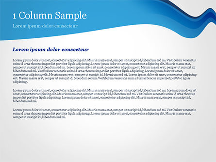 Blue Wavy Line PowerPoint Template, Slide 4, 15332, Abstract/Textures — PoweredTemplate.com