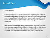 Blue Wavy Line PowerPoint Template, Backgrounds | 15332