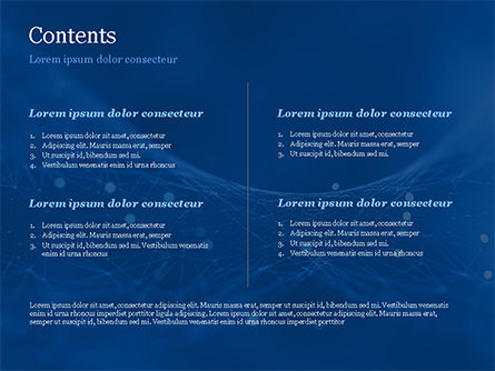 Abstract Blue Polygon Mesh PowerPoint Template, Slide 2, 15334, Abstract/Textures — PoweredTemplate.com