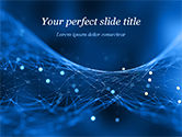 Abstract/Textures: Abstract Blue Polygon Mesh PowerPoint Template #15334
