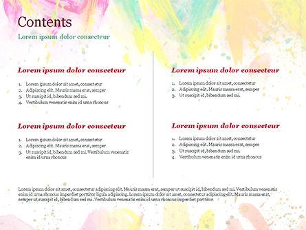 Colored Paint Strokes PowerPoint Template, Slide 2, 15335, Art & Entertainment — PoweredTemplate.com