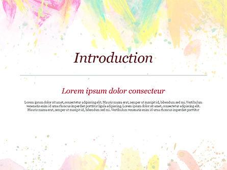 Colored Paint Strokes PowerPoint Template, Slide 3, 15335, Art & Entertainment — PoweredTemplate.com