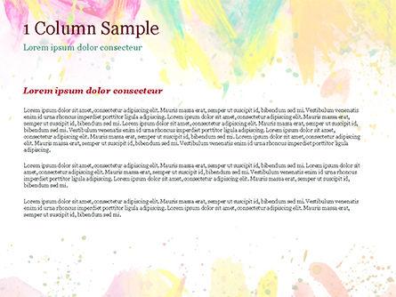 Colored Paint Strokes PowerPoint Template, Slide 4, 15335, Art & Entertainment — PoweredTemplate.com