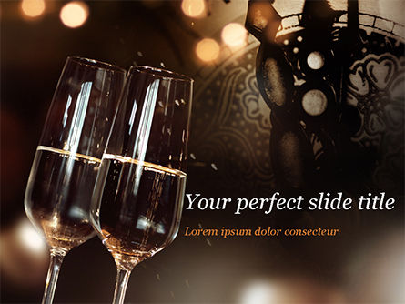 Holiday/Special Occasion: Celebrating with Champagne PowerPoint Template #15337