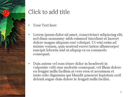 Christmas Mistletoe PowerPoint Template, Slide 3, 15338, Holiday/Special Occasion — PoweredTemplate.com