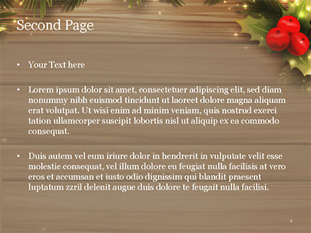 Cute Christmas Gift PowerPoint Template, Slide 2, 15340, Holiday/Special Occasion — PoweredTemplate.com