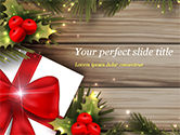 Holiday/Special Occasion: Cute Christmas Gift PowerPoint Template #15340