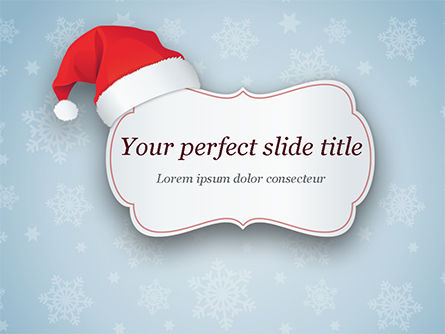 Holiday/Special Occasion: Snowflake Ornament and Santa Hat PowerPoint Template #15341