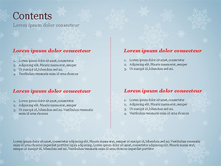 Snowflake Ornament and Santa Hat PowerPoint Template, Slide 2, 15341, Holiday/Special Occasion — PoweredTemplate.com