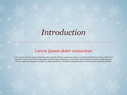 Snowflake Ornament and Santa Hat PowerPoint Template, Slide 3, 15341, Holiday/Special Occasion — PoweredTemplate.com