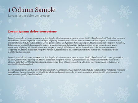 Snowflake Ornament and Santa Hat PowerPoint Template, Slide 4, 15341, Holiday/Special Occasion — PoweredTemplate.com